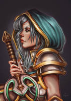 Redeemed Riven - League of Legends by Veavictis