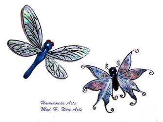 Dragonfly / Butterfly magnet by HollieBollie