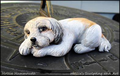Lily shih-tzu sculpture by HollieBollie
