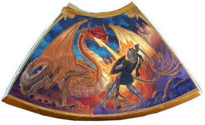 Pagemaster Dragon fight by JoshuaOrro