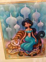 Princess Jasmine and Rajah by JoshuaOrro