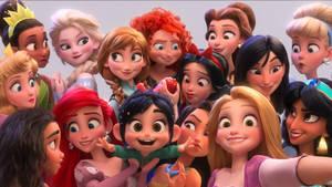 Disney Princess Group Selfie by JoshuaOrro