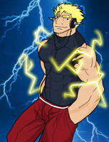 Lightning Laxus by rhimes1999