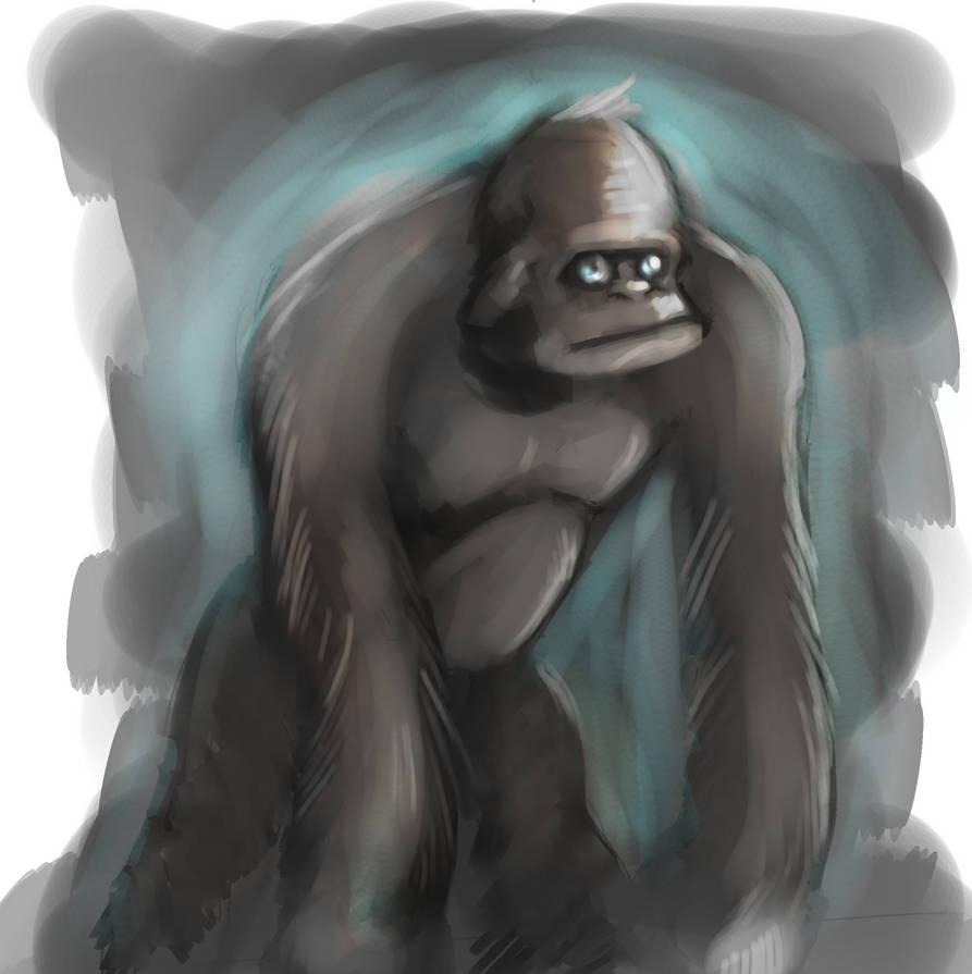 Training - speed - Luminescent gorilla by EvilPNMI