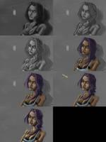 -Process- Lestaelle - Blue outfit reboot by EvilPNMI