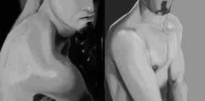Training - values study - male torso by EvilPNMI