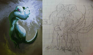 Draw it again - alien lizardman by EvilPNMI