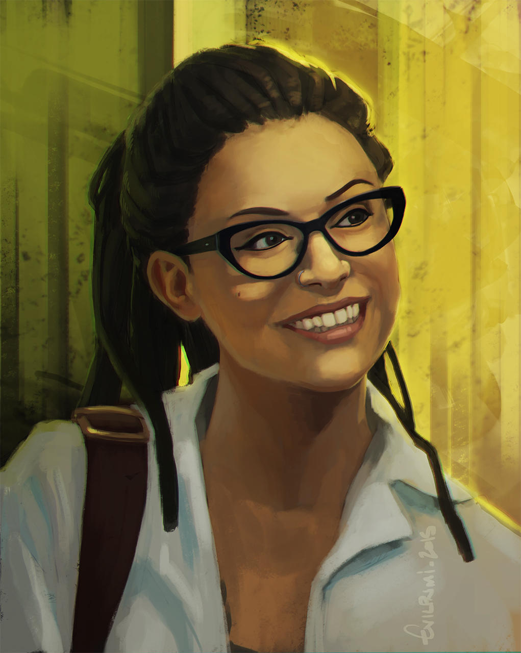 Training - Study : Orphan Black - Cosima Niehaus by EvilPNMI