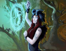 Crow witch by EvilPNMI