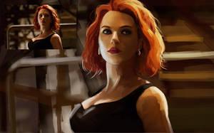Study - Avengers Black Widow by EvilPNMI