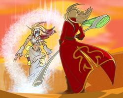 Demon vs Sorceress by EvilPNMI