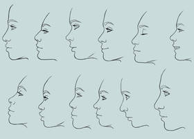 Female profiles by Ravica