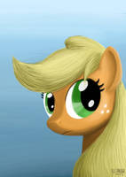 Applejack Portrait by VSabbath