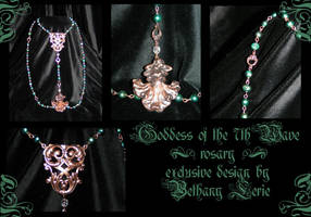 Goddess of the 7th Wave rosary by redLillith
