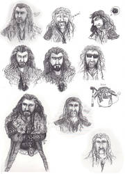 Thorin/Fili Sketchdump by WhyteHawke