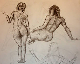 Gesture Drawing 1 by WhyteHawke
