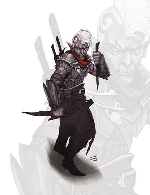 Gorm The Drow Assassin by DioMahesa