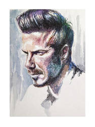 beckham watercolor by sent-off