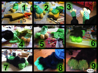 How to make fursuit paws (THIS IS SO OLD WHAT THE) by TheDarknessDash