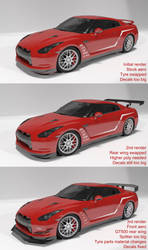 Mako's Touge Special Nissan GT-R (WIP) by BayuBaron