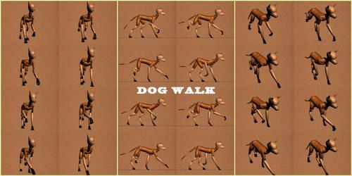 Dog Walk Cycle by K-Zlovetch