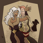- Art Trade - Kassim and Lilith by K-Zlovetch