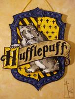 Hufflepuff papercraft by K-Zlovetch