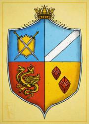 - Commish - Carmine Heraldry 1 by K-Zlovetch