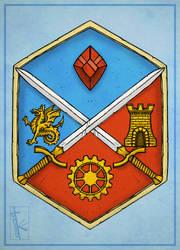 - Commish - Carmine Heraldry 2 by K-Zlovetch