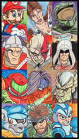 Game Character Sketch Cards by KileyBeecher
