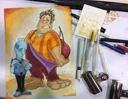 Wizard World Chicago 2013 Wreck-it Ralph Sketch by KileyBeecher