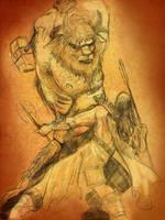 Man vs. Beast by KileyBeecher