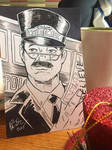 Holiday Flash Sketch - Polar Express Conductor by KileyBeecher