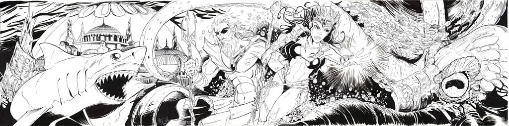 Razing Atlantis Inks by KileyBeecher