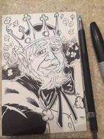 King Bryan Sketch Card by KileyBeecher