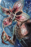 The Demogorgon Sketch Card by KileyBeecher