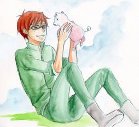Hachiken and Pork Bowl by nayght-tsuki