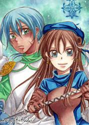 ACEO No158 Green and Saiyon by nayght-tsuki