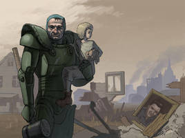 Brotherhood paladin by EgorMotygin