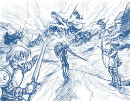 Final Fantasy Tactics sketch by perapera