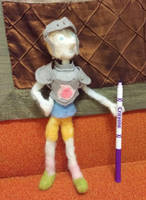 Needle Felted Knight Pearl by feltgood
