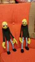Salad Fingers Dolls by feltgood