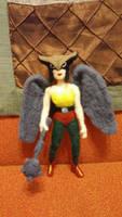 Hawkgirl Needle Felted Plush Doll by feltgood