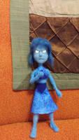 Lapis Lazuli Needle Felt Plush Doll by feltgood