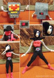 Mettaton Felt Doll Transformation Sequence by feltgood
