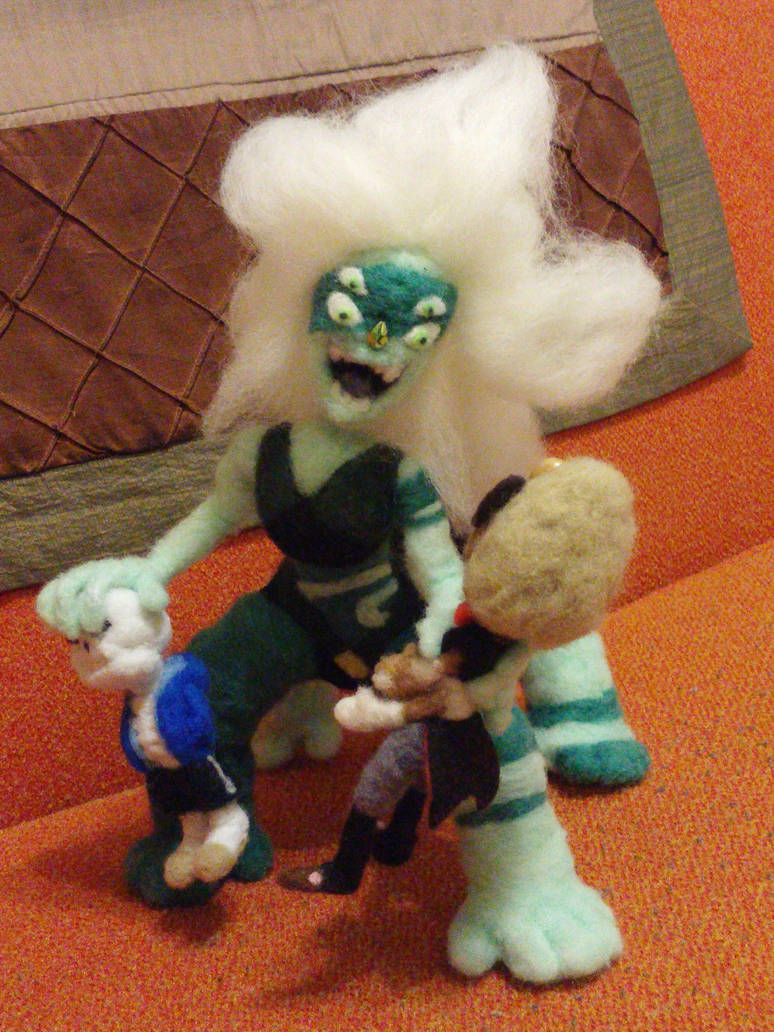 Showing off Malachite's articulated hands by feltgood