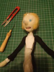 Tuxedo Pearl Doll WIP by feltgood
