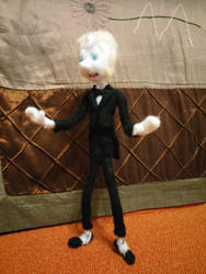 Tuxedo Pearl feltie - Finished! by feltgood
