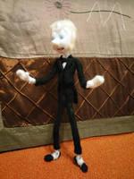 Tuxedo Pearl feltie - Finished! by feltgood