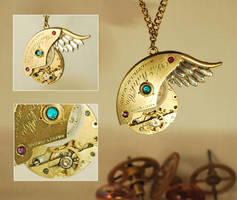 Handcrafted Steampunk Pendant by Henri-1